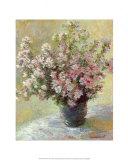 Vaso di peonie Poster di Claude Monet