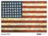 Jasper Johns - Bayrak, 1954 - Poster