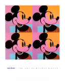 Mickey Mouse Psters por Andy Warhol