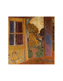 Door Open Onto the Garden Arte por Pierre Bonnard