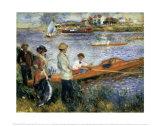 Oarsmen at Chatou Art by Pierre-Auguste Renoir