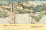 Cascade, Mill Run, Pennsylvanie Affiche par Frank Lloyd Wright