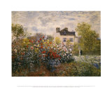 O Jardim do Artista em Argenteuil Pôsters por Claude Monet