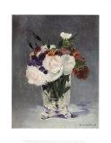 Blumen in einer Glasvase Kunstdrucke von Édouard Manet
