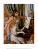 Two Young Girls at the Piano Posters by Pierre-Auguste Renoir