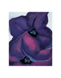 Purple Petunias, 1925 Prints by Georgia O'Keeffe