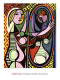 Girl Before a Mirror, c.1932 Posters av Pablo Picasso