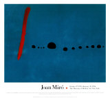 Blue II Posters by Joan Miró