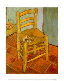Van Gogh's Chair, c.1888 Posters by Vincent van Gogh
