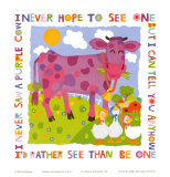 Purple Cow Prints by Cheryl Piperberg