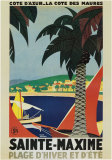 Sainte-Maxime Print by Roger Broders