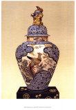 Oriental Blue Vase I Print