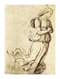 Sepia Woman Dancing Prints by Pietro Perugino