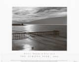 The Scripps Pier Print by Ansel Adams