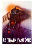 Le Train Fantome Plakater af Paul Colin
