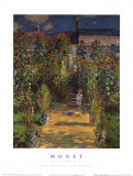 The Artist's Garden at Vetheuil Prints by Claude Monet