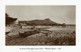 In Front of Outrigger Canoe Club, Waikiki Beach, Hawaii, 1917 Prints