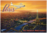 Paris, vue du ciel Affiches par Kerne Erickson