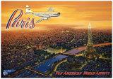 Über Paris Kunstdrucke von Kerne Erickson