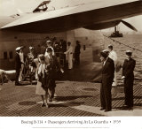 Boeing B-314, Passengers Arrive at La Gaurdia, 1939 Posters by Clyde Sunderland