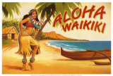 Aloha Waikiki Plakater