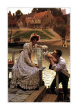 Courtship Poster by Edmund Blair Leighton