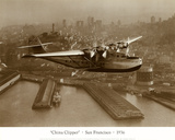 China Clipper, San Francisco, California, 1936 Art by Clyde Sunderland