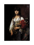 Flower Girl Prints by Alexei Alexeivich Harlamoff