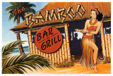 Bamboo Bar and Grill, Hawaii Plakat