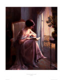 Young Woman Reading by a Window Print by Delphin Enjolras