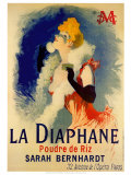 La Diaphane Posters by Jules Ch&#233;ret
