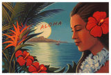 Aloha Moonrise Posters