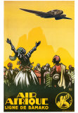 Air Afrique Art by  Alo (Charles-Jean Hallo)