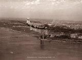 Boeing Stratocruiser, puente de George Washington, 1949 Láminas por Clyde Sunderland