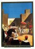 La Maroc Par Marseille Plakater af Maurice Romberg