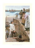 Between the Tides Print by Walter Langley