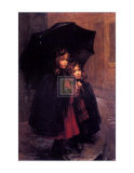 Sheltering Sisters Prints by Marthe Marie Louise Boyer-Breton