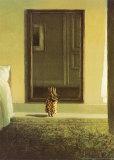 Kanin som kler seg|Bunny Dressing Posters av Michael Sowa
