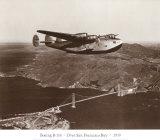 Boeing B314, au-dessus de la baie de San Francisco, Californie 1939 Affiches par Clyde Sunderland