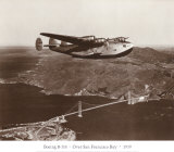 Boeing B-314 over San Francisco Bay, California 1939 Prints by Clyde Sunderland