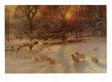 The Shortening Winter's Day Poster von Joseph Farquharson