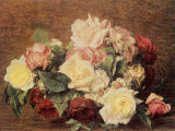 Rosen Kunstdrucke von Henri Fantin-Latour