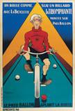 Bicyclette sur un Billard Prints