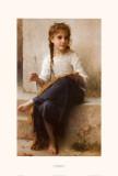 Die kleine Stickerin Poster von William Adolphe Bouguereau