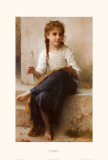 The Young Seamstress Art by William Adolphe Bouguereau