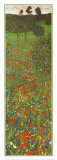 Eng med valmuer Poster av Gustav Klimt