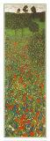Mohnblumenfeld Poster von Gustav Klimt