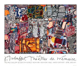Minnets teater, 1977 Screentryck av Jean Dubuffet