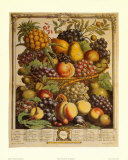 Fruits of the Season, Winter Poster by Robert Furber