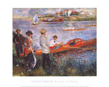 Oarsmen at Chatou Plakater af Pierre-Auguste Renoir